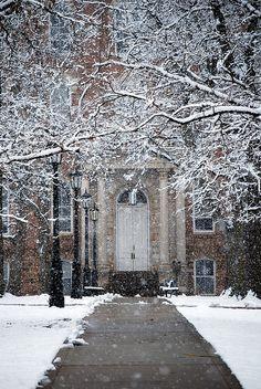 Galloway, Fayetteville, Arkansas... snow!