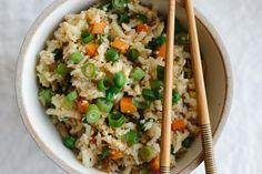 (gluten-free, paleo) Cauliflower fried rice is a healthier alternative to the much loved Chinese favorite.