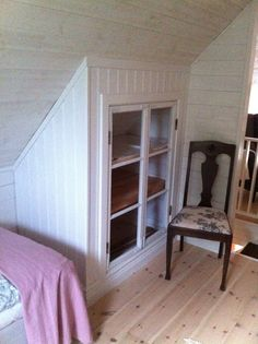 Attic Remodel Family Room and Attic Low Ceiling Storage. Decor, Home, Attic Renovation, House Styles, Minimalist Bedroom, House, White Room, Room, Simple Closet