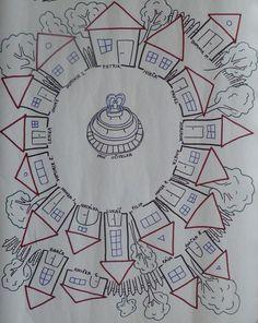 Městečko Zapomněnkov - značení zapomínání: School Classroom, Classroom Decor, Classroom Management, Montessori, Art For Kids, Craft Projects, Teaching, Education, Crafts
