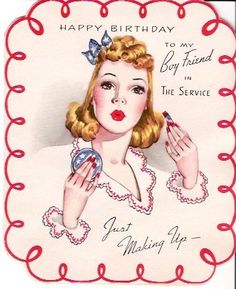World War II Boy Friend in the Service Birthday Greeting Card