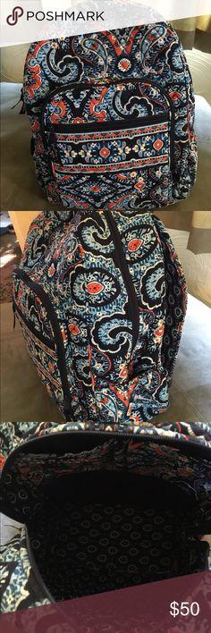 Vera Bradley Campus Backpack Vera Bradley backpack, Marrakesh pattern, used for last year of college, in great condition! Vera Bradley Bags Backpacks
