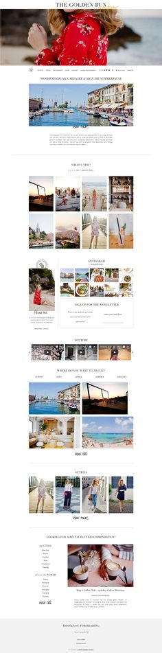 Vicky from The Golden Bun got a beautiful new WordPress Theme. Do you also want to start killing it online, Wordpress Website Design, Website Design Layout, Wordpress Theme Design, Website Design Inspiration, Premium Wordpress Themes, Best Web Design, Web Design Trends, Fashion Website Design, Ecommerce Template