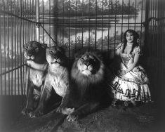 A brave woman! Circus performer, Adjie, 1899. by thecameo, via Flickr