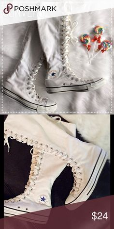 Converse Knee High Shoes Preloved ~ lots of life left. Converse Shoes