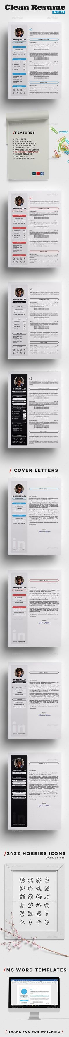 Resume Templates Clean Resume - Resumes Stationery
