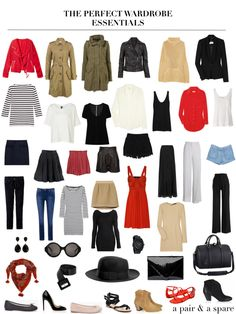 Really nice layout of the essentials for a capsule wardrobe
