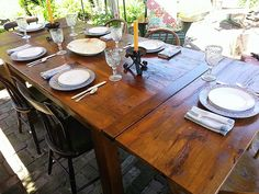 Reclaimed Wood Farm Tables, custom size trestle tables, round tables and Windsor chairs are our specialties, also, hand hewn beams for fireplace mantles.
