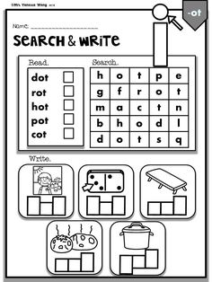 Fun activity to learn Phonics CVC English Worksheets For Kids, 1st Grade Worksheets, Phonics Worksheets, Phonics Activities, Kindergarten Activities, Sea Activities, English Activities, Preschool Learning, Printable Worksheets