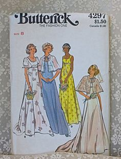 Vintage 60s Wedding Dress Butterick Pattern4297 by jantiques, $15.00