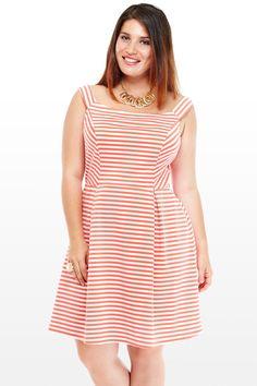 Kimmy Striped Flare Dress