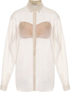 DELPOZO White Braided Placket Shirt- Lyst