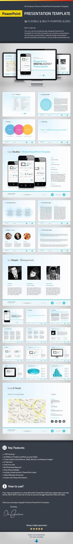 PowerPoint Agency / Personal Presentation Template by CheDaFontana.deviantart.com on @deviantART