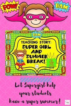Supergirl to the rescue!  She's here to help your superhero obsessed students learn about the changes between the school year and summer break!  Color and b&w teaching story and activities.