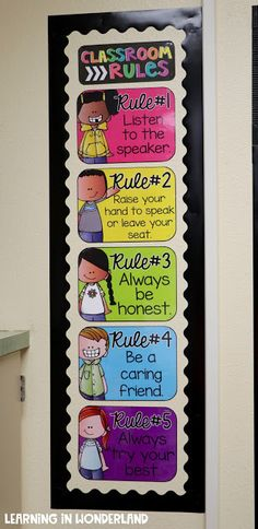 Learning in Wonderland Classroom Tour - Decoration Kindergarten Classroom Rules, Classroom Design, Classroom Themes, School Classroom, Classroom Organization, Classroom Management, Classroom Decoration Ideas, Classroom Rules Display, Classroom Rules Poster