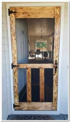 Patio Screen Door with Doggie Door . Patio Screen Door with Doggie Door . 18 Diy Screen Door Ideas with Images Home Projects, Home Remodeling, Woodworking Projects Diy, Cheap Home Decor, New Homes, Diy Screen Door, Diy Woodworking, Home Diy, Rustic House