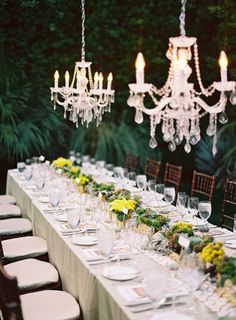 Out door elegant setting for gay wedding at Parker Palm Springs. Decor by Maggie Jensen Florals; photography by Michael Radford, design & planning by Celebrations of Joy. Mod Wedding, Dream Wedding, Wedding Day, Wedding Tables, Wedding Reception, Wedding Stuff, Glamorous Wedding, Elegant Wedding, Decoration Inspiration