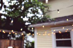 {Backyard cafe lights.}