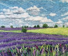 Thread paintings Available Thread Art, Thread Painting, Fabric Painting, Fabric Art, Machine Embroidery Quilts, Free Motion Embroidery, Embroidery Art, Modern Embroidery, Landscape Art Quilts