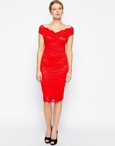 Jessica Wright Olivia Off Shoulder Lace Dress