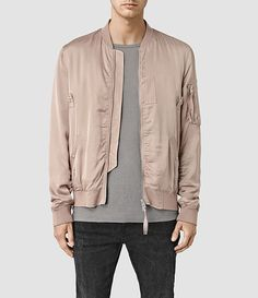 Mens Varberg Bomber Jacket (Dusty Pink) - product_image_alt_text_1