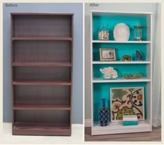 Give an old bookcase a new life with a little love and the help of paint. This entry will show how I transformed a boring, wood bookcase into a stylish and playful piece with a little love and a coat of paint. I decided on seaside feel with a blue-green and white color scheme. I …