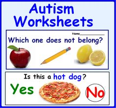 Autism Worksheets- Circle the Right Answer (Bundle). Purchase this BUNDLE and SAVE 20% off each product! This bundle contains 5 of my products. #Autism