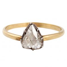 Heart-Shaped Georgian Diamond Solitaire Ring // ESQUELETO