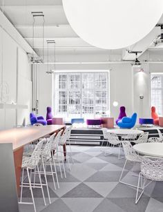 Really cool Skype offices designed by PS Arkitektur. Love the colors!!