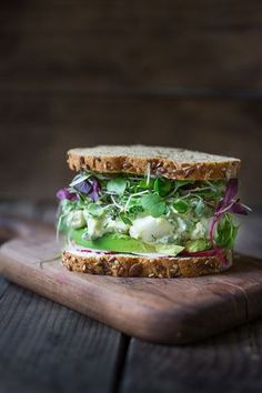 Green Goddess Egg Salad with Avocado. Use VEGAN Egg Salad and Gluten-Free bread