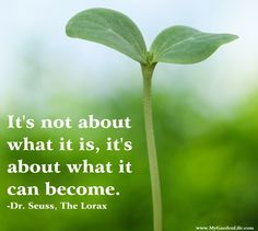 """""""It's not about what it is, it's about what is can become."""""""