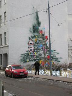 A Graffiti Christmas Tree via Wooster Collective