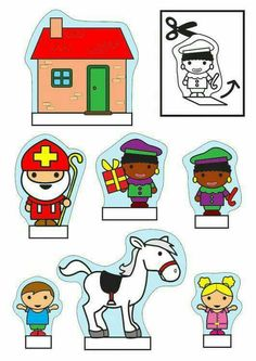 Saint Nicholas show-box crafts Crafts and arts for children. Diy For Kids, Crafts For Kids, Arts And Crafts, Christmas In Holland, Diorama, Saint Nicolas, Christmas Coloring Pages, Reno, Toddler Crafts