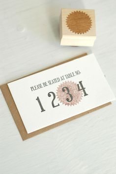 A cute twist of the traditional escort card. Letterpress Escort Cards.