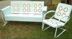 Vintage restored porch gliders