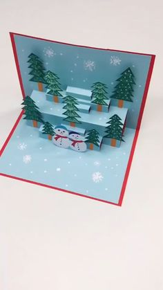 Cute Craft Christmas Decor - How to make the simple Christmas ornaments card? - Cute Craft Christmas Decor - How to make the simple Christmas ornaments card? Diy Crafts For Gifts, Cute Crafts, Holiday Crafts, Crafts For Kids, Diy Arts And Crafts, Crafts To Make, Wooden Christmas Ornaments, Merry Christmas Card, Christmas Art