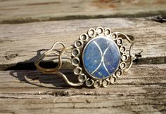 TRIBAL LAPIS Silver Wire Armlet Cuff