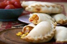Recipe for las Empanadas de humita - muy tipicas en el norte argentino (in Spanish)