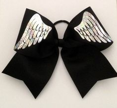 Angel Wings Cheer Bow by KissMyBowTX on Etsy