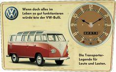 Vintage Wanduhr VW-Bulli