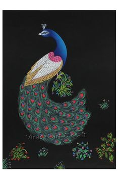 Miniature Painting on Paper of peacock, gift, home decor, Indian art, Indian handicraft by VirasatArtAndCraft on Etsy Fine Paper, Indian Art, Handicraft, Peacock, Miniatures, Handmade Gifts, Painting, Etsy, Vintage