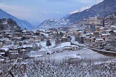 Tresivio http://www.valtellinamobile.it/il-profumo-dellalba-dopo-la-neve/
