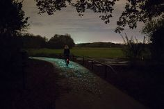 This Glow-in-the-Dark Bike Path Is Just Magical