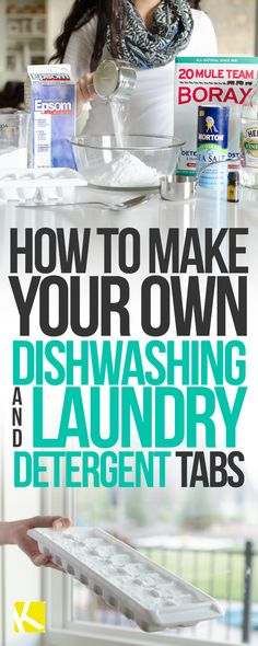 Make Your Own Dishwashing & Laundry Detergent Tabs So Easy! Make Your Own Dishwashing & Laundry Detergent TabsSo Easy! Make Your Own Dishwashing & Laundry Detergent Tabs Homemade Cleaning Supplies, Cleaning Recipes, Cleaning Tips, Homemade Products, Diy Products, Soap Recipes, Organizing Tips, Laundry Pods, Laundry Hacks