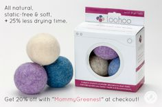 Mommy Greenest Approved: LooHoos Dryer Balls