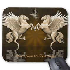 Shop Teal Pegasus Reflections Mouse Pad created by BlueRose_Design. Winged Horse, Custom Mouse Pads, All Things Purple, Custom Greeting Cards, Pegasus, Paper Texture, Thoughtful Gifts, Your Cards, Reflection