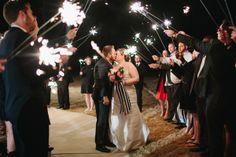 sparkler exit   Sara & Rocky #wedding
