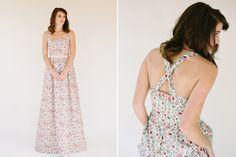 Floral and Printed Bridesmaid Dresses   Whitney Deal Lilium Dress in Edenham Light Pattern