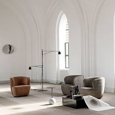 You do not need much more than a couple of Stay Lounge Chairs to create a stunning setting. Cred to @stylist_gittekjaer.#gubi #gubiofficial #stayloungechair #spacecopenhagen
