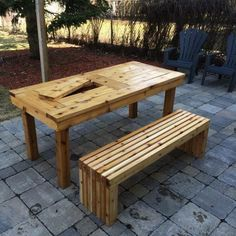 DIY Patio Table & Bench | Do It Yourself Home Projects from Ana White